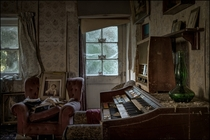 Abandoned house with Piano By Dave H