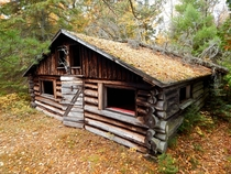 Abandoned hunting cabin in the north woods of Wisconsin