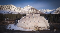 Abandoned igloo shaped hotel covered in graffiti Matanuska-Susitna Borough Alaska United States   Mike Criss