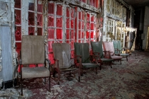 Abandoned in the late s this is the interior of Ruchill Infectious Disease Hospital Scotland