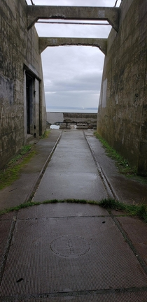 Abandoned -inch shore gun emplacement WA USA