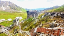 Abandoned Independence Gold mine and town houses -Fishhook Alaska