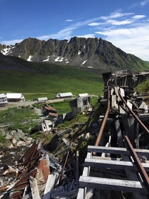 Abandoned Independence Mine near Hatchers Pass in Alaska