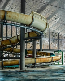 Abandoned Indoor Waterslide by _silence_doll