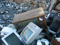 Abandoned Industry and Electronics Dump Troy NY