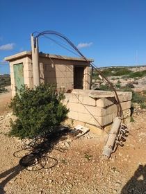Abandoned infrastructure in Comino Malta a tiny Maltese island with currently only three permanent residents