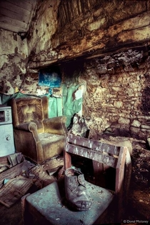 Abandoned Irish house Looks as though it has been untouched