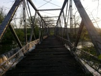 Abandoned iron truss bridge - Trimble County Kentucky