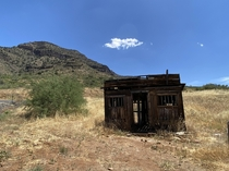 Abandoned Jail at the base of the Salt River Canyons in Arizona Tried researching this but came up empty handed