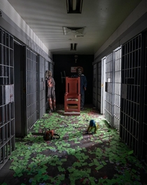 Abandoned Jail Turned to Halloween Haunt Maze then Abandoned Again