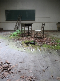 Abandoned Japanese Classroom Unknown Photographer