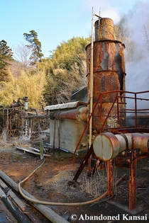 Abandoned Japanese hot spring near a hotel where Emperor Hirohito used to stay occasionally