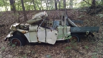 Abandoned Jeep found in the woods of New York