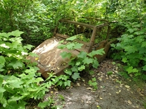 Abandoned Jeep in the forest Squamish BC