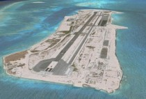 Abandoned Johnston Atoll military base in the mid Pacific Ocean