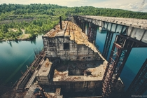 Abandoned Krapivinskaya Dam Russia  More photos in comments