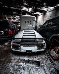Abandoned Lamborghini Kit Car Left to Rot Inside a Decaying Warehouse