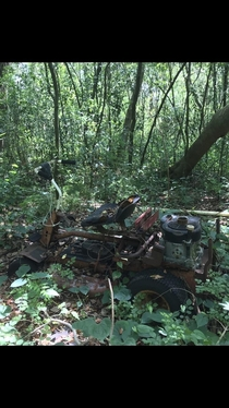 Abandoned lawnmower found in the woods Lutz FL
