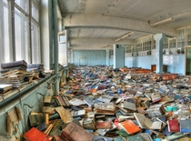 Abandoned library outside of Moscow Russia