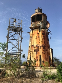 Abandoned lighthouse in St Croix USVI