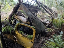 Abandoned logging truck British Columbia Canada