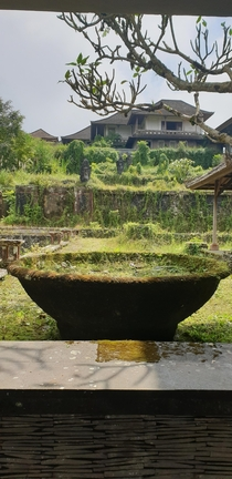 Abandoned luxury resort stretching down a mountain ridge in Bali Indonesia called Bedugal Taman Rekreasi
