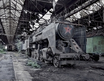 Abandoned Ma v Class  Steam Train - this locomotive was constructed in  and was used in Hungary during the communist era