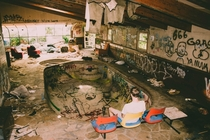 Abandoned Mansion w Indoor Pool