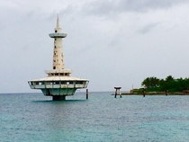 Abandoned marine research station Nassau Bahamas