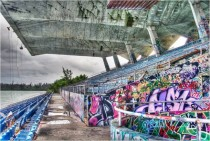 Abandoned Marine Stadium in Miami