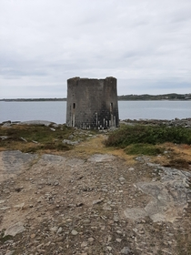 Abandoned martello tower in Ireland Built by english forces at some point