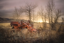 Abandoned Massey Harris Harvester in Idaho