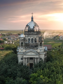 Abandoned mausoleum in Romania