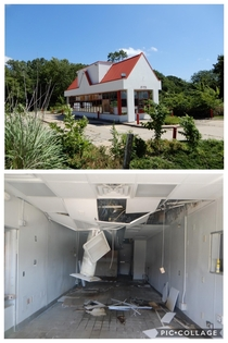 Abandoned McDonalds Express Drive-Thru Only On A HOT Day In Topeka Kansas