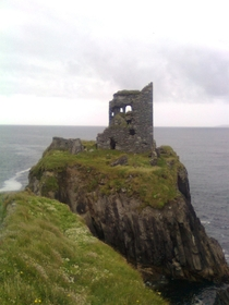 Abandoned Medieval Castle Cape Clear Island Ireland