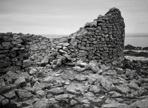 Abandoned Medieval Stone Fort Blackhead Clare Ireland