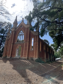 Abandoned Methodist church in Tarnagulla Victoria Australia Destroyed by fire in