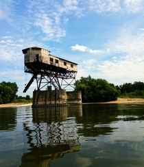 Abandoned military object on the Danube