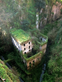 Abandoned mill from  in Sorrento Italy