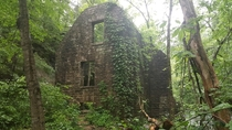 Abandoned mill in an Arkansas state park