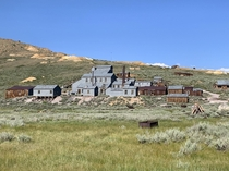 Abandoned mill in the preserved ghost town of Bodie CA