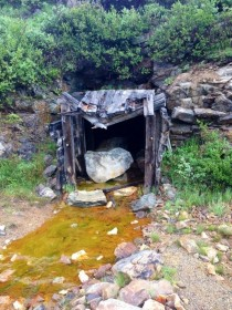 Abandoned Mine Shaft in Arapaho National Forest Colorado