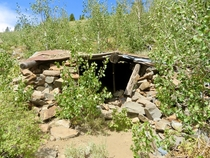 Abandoned mining cabin in Mammoth Lakes CA Mammoth Consolidated Gold Mine -