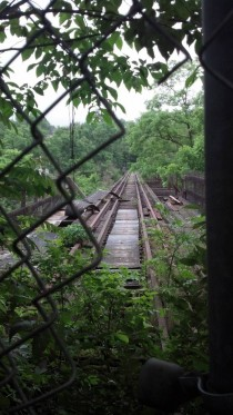 Abandoned Montour Railroad tressel near Pittsburgh PA