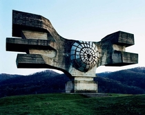 Abandoned monument in the Balkans