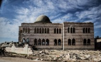 Abandoned Mosque in Syria - called the graveyard of Tanks after a battle that took place there