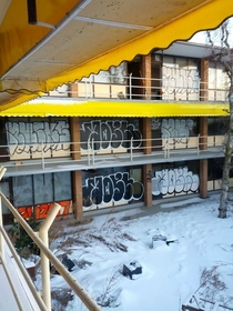 Abandoned motel inside which there was a hidden skatepark AIC