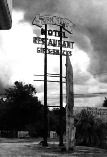 Abandoned motel sign north Florida