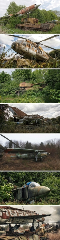 Abandoned Motor Technica Museums rusting vehicles in Bad OeynhausenGermany