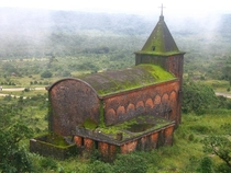 Abandoned mountain church in Bokor Cambodia